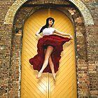 Dancer in red dress by bradlentz-photo
