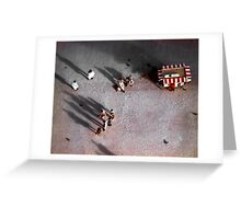 Below the Leaning Tower of Pisa Greeting Card