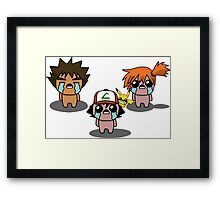 The Binding Of Isaac/Pokémon Crossover - Kanto Group Framed Print