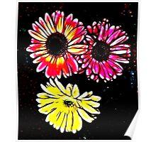 Fractalius Flowers Poster