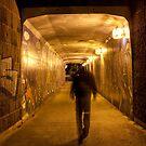 Entering pedestrian tunnel by Ian Stevenson