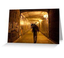 Entering pedestrian tunnel Greeting Card