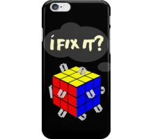 Rubik's Cube with razor blades! I fix it? Blood. iPhone Case/Skin