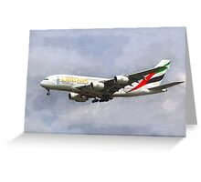 Emirates Airline A380 Art Greeting Card
