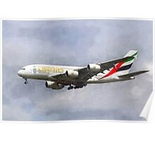 Emirates Airline A380 Art Poster