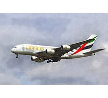 Emirates Airline A380 Art Photographic Print