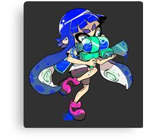 Squid Kid - Blue Canvas Print