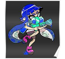 Squid Kid - Blue Poster