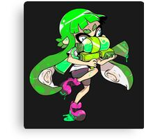 Squid Kid - Green Canvas Print