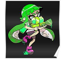 Squid Kid - Green Poster