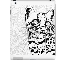 The Elusive Ocelot- Black &White iPad Case/Skin