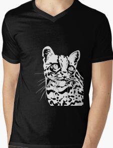The Elusive Ocelot- No Background Mens V-Neck T-Shirt