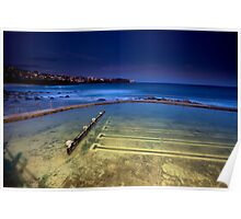 Twilight At Bronte's Rockpool  Poster