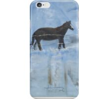 Horse in the Snow iPhone Case/Skin