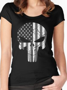 American Punisher - Subdued Women's Fitted Scoop T-Shirt