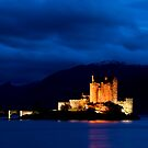 Eilean Donan Castle at night. by Terry Mooney