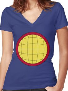 Captain Planet Planeteer Logo Women's Fitted V-Neck T-Shirt