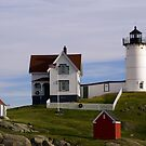 The Nubble Lighthouse by Monica M. Scanlan