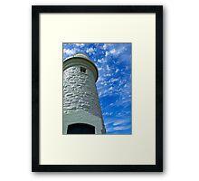Beautiful cloud formations - Rotnest Island Lighthouse, Perth, Western Australia Framed Print