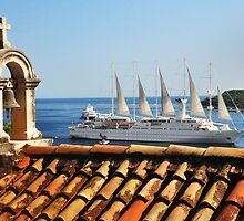 Windstar Cruise's WindSurf from Dubrovnik, Croatia by Mitchell Grosky