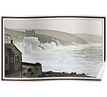 """"""" The Tiny Port of Porthleven"""" Poster"""