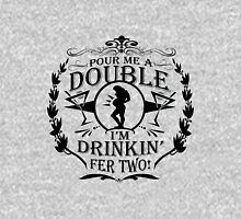 Pour Me a Double Womens Fitted T-Shirt