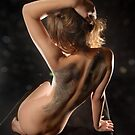 Back with Wings #3143-HBA, a nude by Chris Maher by Chris Maher