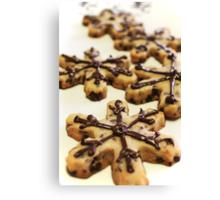 Snowflake cookies '09 Canvas Print