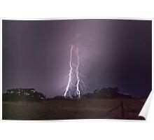 Peake Hill Lightning Poster