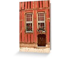 Colorful Twisted Windows Greeting Card