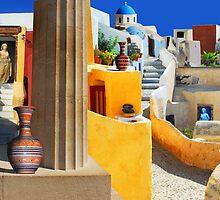 Santorini by Dennis  Roy Smigel