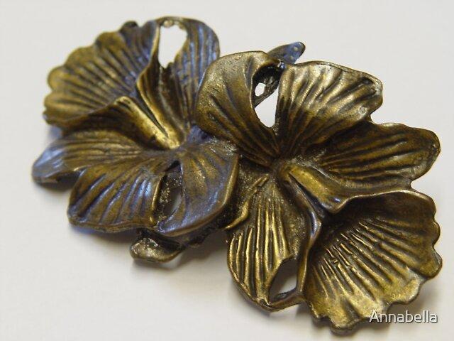 Brass flowers by Annabella