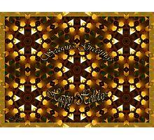 Seasons's Greetings - Happy Holidays Photographic Print
