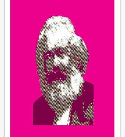Pink Karl Marx Sticker