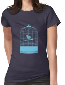 bird in cage Womens Fitted T-Shirt