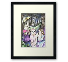 Noises in The Night Framed Print