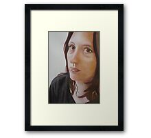 Sophie, in the kitchen: watercolor on paper Framed Print