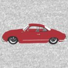 Red Karmann Ghia by MangaKid
