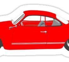 Red Karmann Ghia Sticker