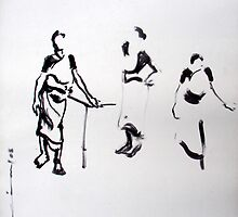 ink drawing by limon