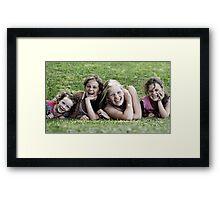 My Four Girls Framed Print