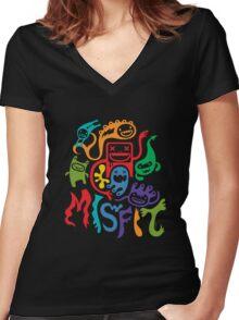 misfits - dark Women's Fitted V-Neck T-Shirt