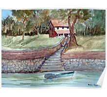 Lakefront Property - Watercolor Poster