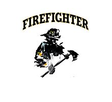 Brush with a Firefighter Photographic Print