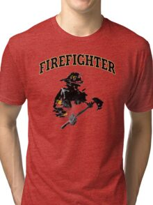 Brush with a Firefighter Tri-blend T-Shirt