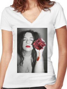 Every time hurts more than the first time Women's Fitted V-Neck T-Shirt