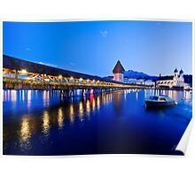 Luzern at dusk Poster