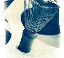 Cyanotype - chinese Shaving Brush by David Amos