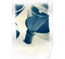 Cyanotype - chinese Shaving Brush Poster