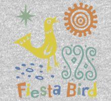 fiesta bird - dark Kids Tee
